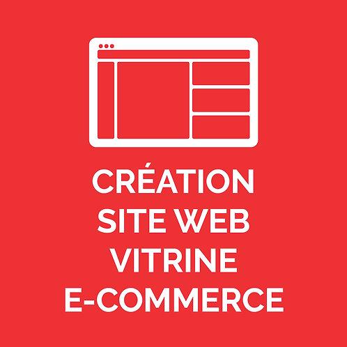 CRÉATION SITE WEB / VITRINE E-COMMERCE