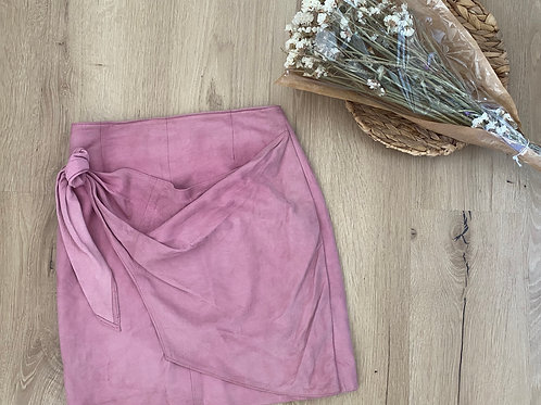 Jupe rose velour (Taille: 34)