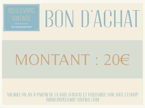 BON D'ACHAT - 20€