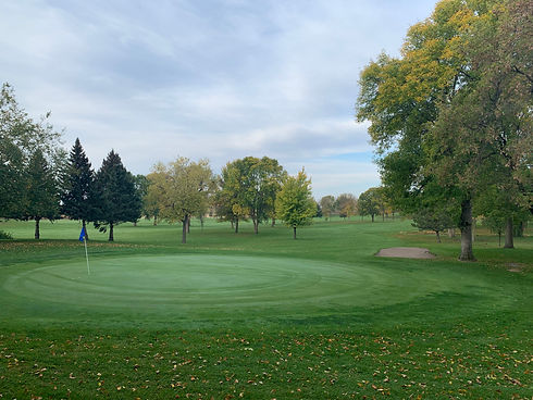 Sleepy Eye Golf Club Hole 6 in autumn