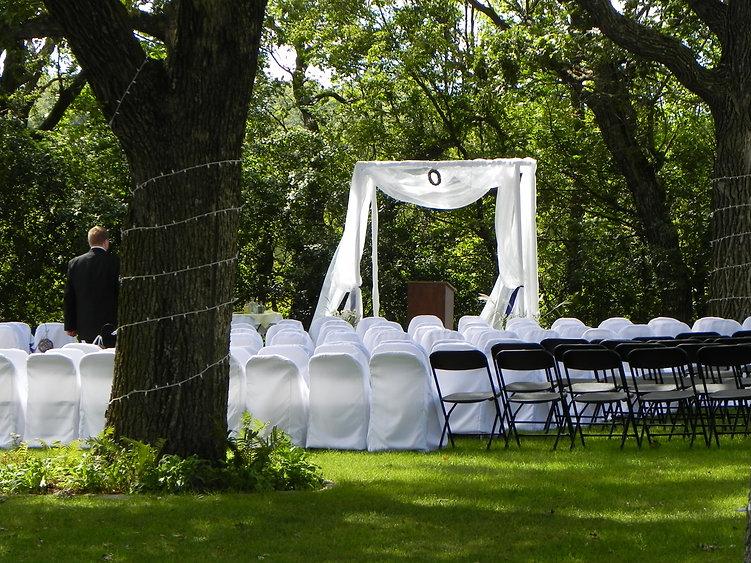 Outdoor wedding at NUCC