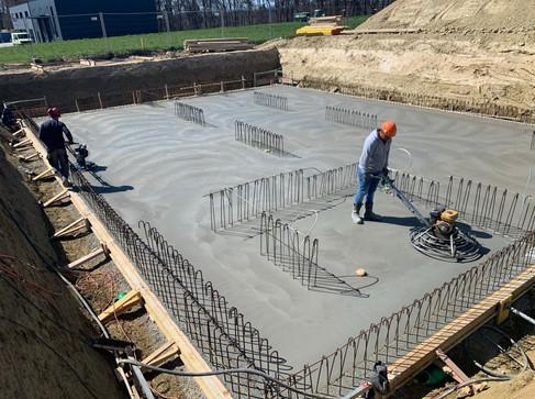 Construction d'une halle industriel à Grolley