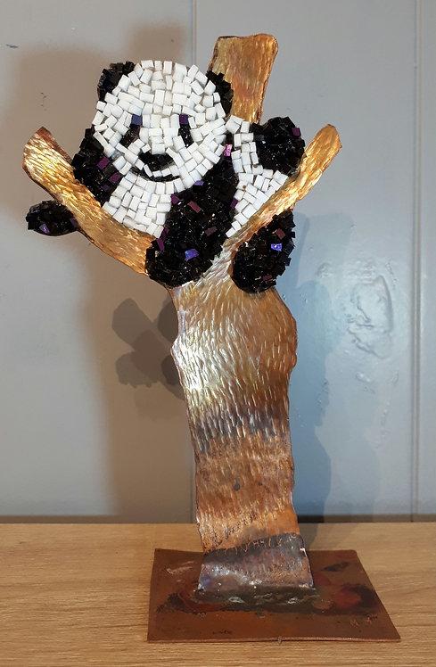 Panda en cuivre et mosaïque N1