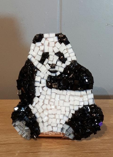 Mini panda en cuivre et mosaïque N1
