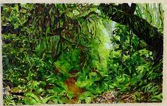 Tableau en mosaïque Sous bois.JPG