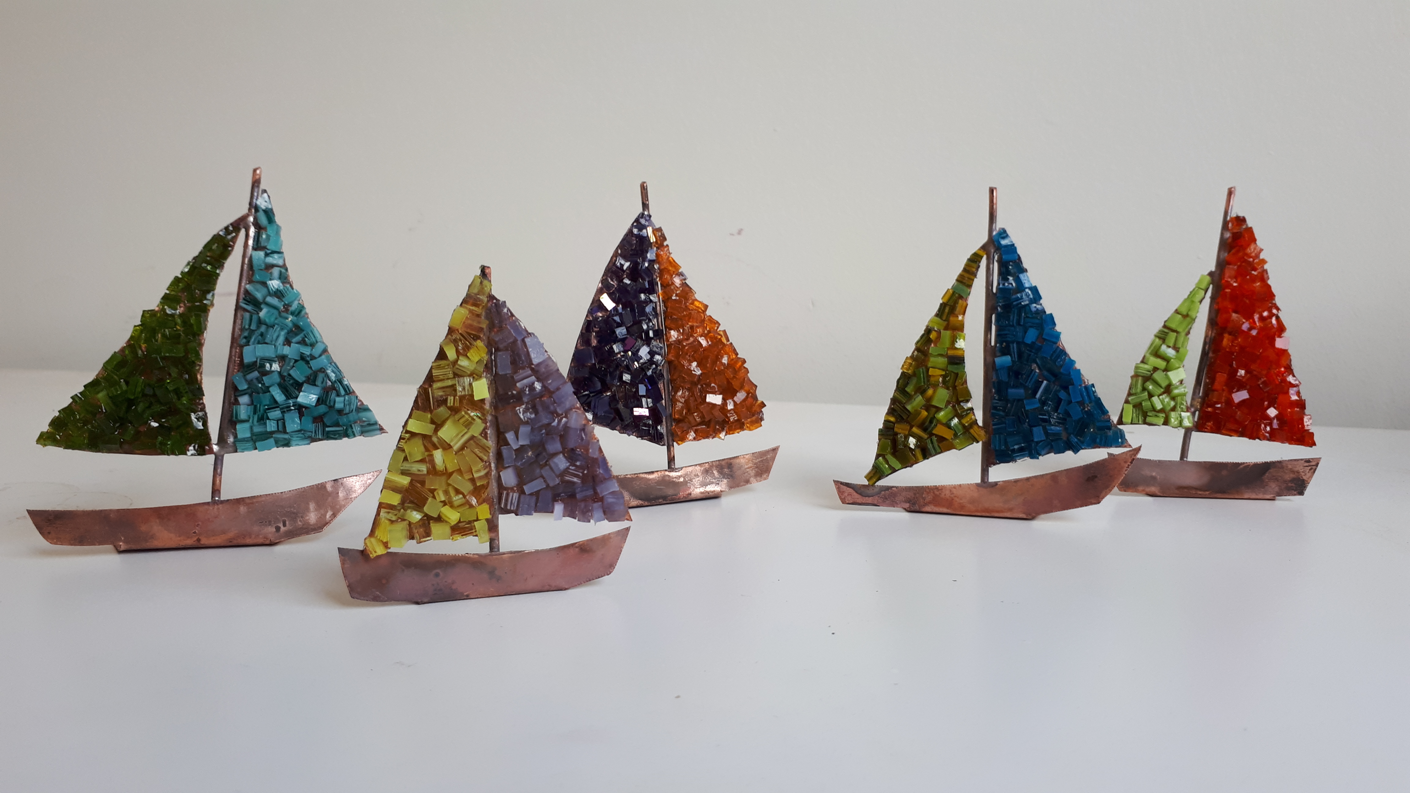 Bateaux en mosaïque