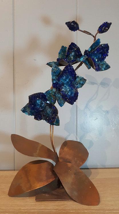 Orchidée en cuivre et mosaïque N1