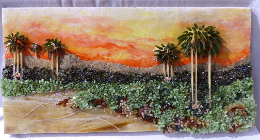 Tableau en mosaïque de M-Christine