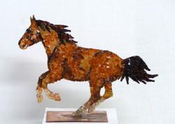 Cheval en cuivre et mosaïque n°4