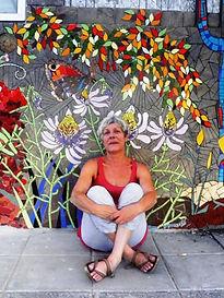 Marianne Minuzzi - Chantier de mosaïque au Chili