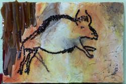 Tableau en mosaïque de Marie Reine