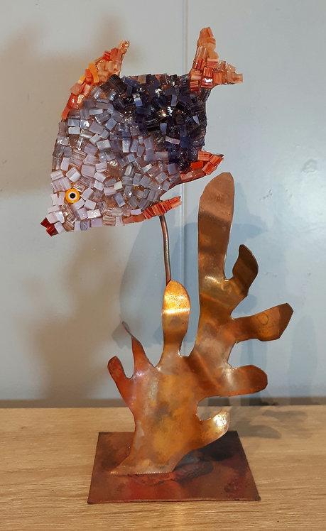 Poisson en cuivre et mosaïque N3