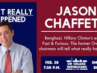 Jason Chaffetz Is Coming To GW