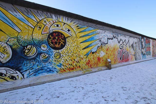 One of the murals East Side Gallery