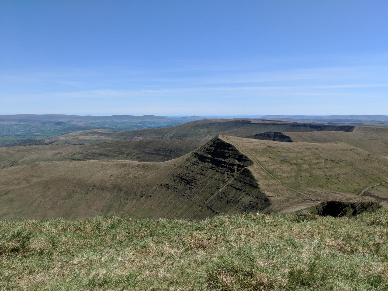 View across the Beacons