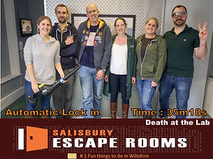 Salisbury Escape Rooms top team