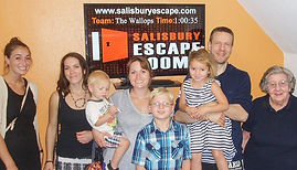 Families having fun together a Salisbury Escape Rooms