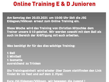 Online Training E & D Junioren