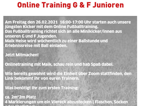 Online Training G & F Junioren
