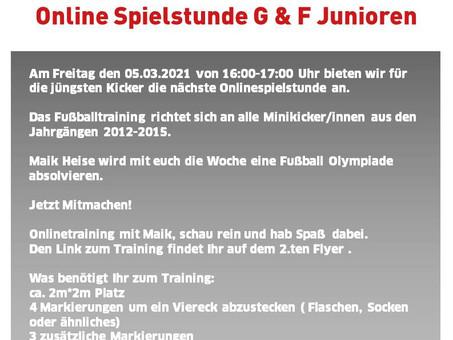 Online Spielstunde G & F Junioren