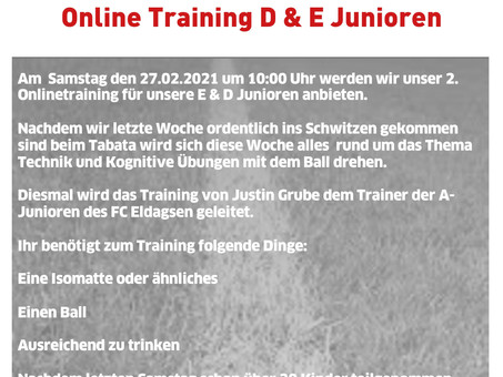 Online Training E & D Junioren Teil 2