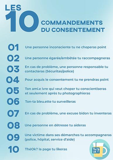 10 commandements du consentement sexuel UCL Thé ok