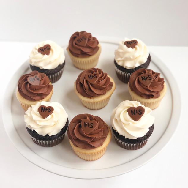Rustic Heart Cupcakes