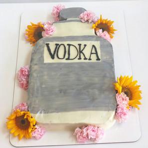 Vintage Vodka Bottle Cake