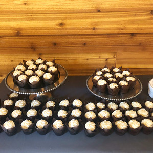 Wedding Cupcakes with Tulip Wrappers