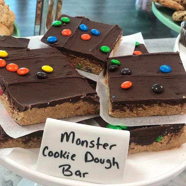Monster Cookie Dough Bars