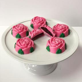 Red Velvet Rose Cake Gems
