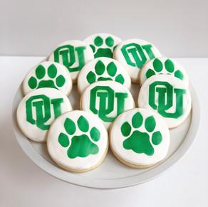 OU Bobcat Cookies