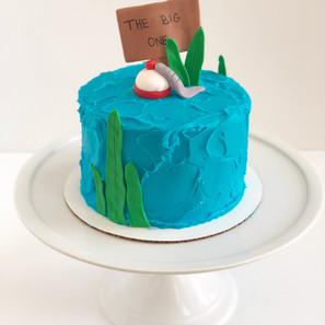 Fishing Smash Cake
