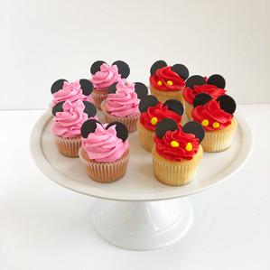 Minnie and Mickey Cupcakes