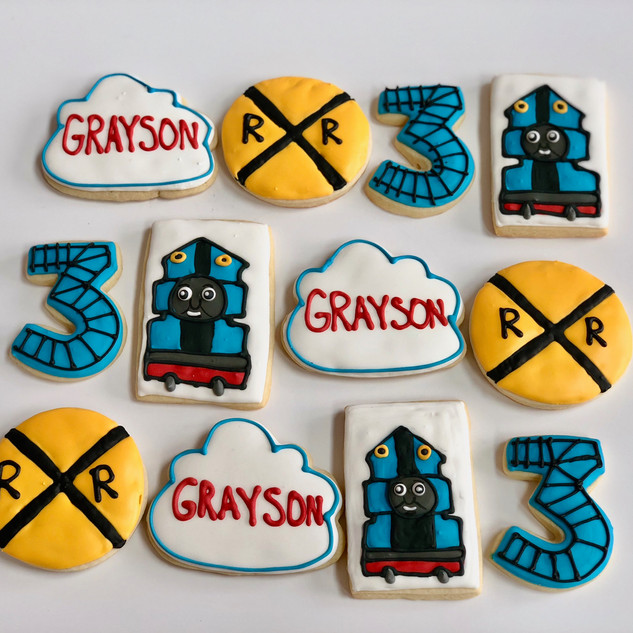 Thomas Train Cookies