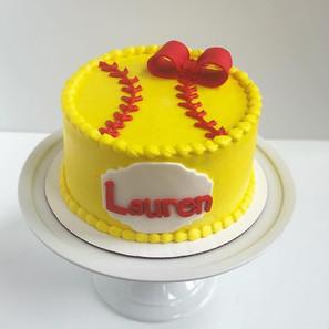 Softball Bow Cake