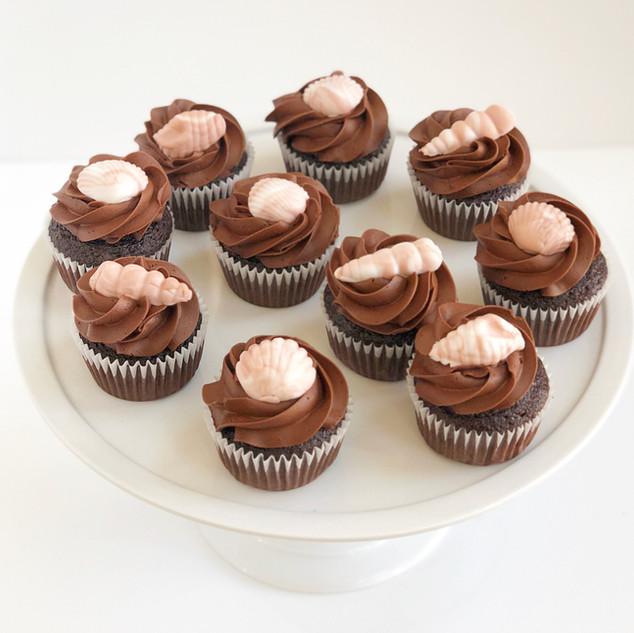 Sea Shell Cupcakes