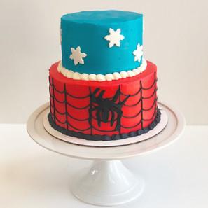 Frozen/ Spideman Cake