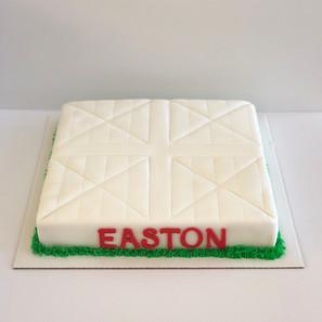 Baseball Base Cake