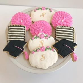 Floral Graduation Cookies
