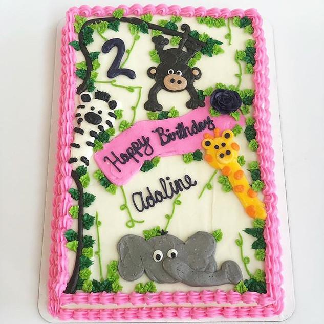 Zoo Sheet Cake