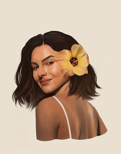 summer portrait painting