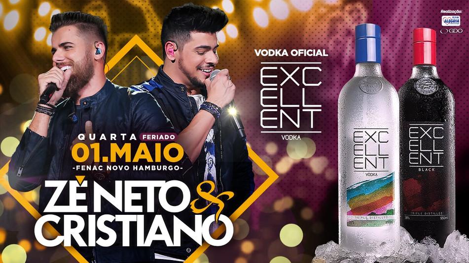 Zé Neto & Cristiano / Ação da marca em show como vodca oficial.