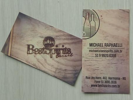Novos cartões de visita Best Spirits Brasil