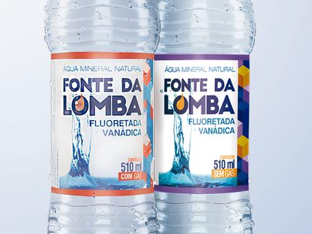 Nova marca e novos rótulos Água Mineral Natural Fonte da Lomba