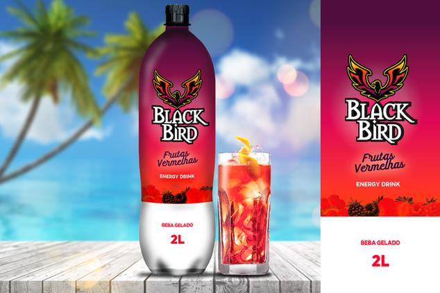 Energético Black Bird Frutas Vermelhas