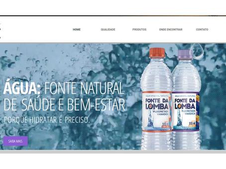 No ar, novo site da água mineral Fonte da Lomba.