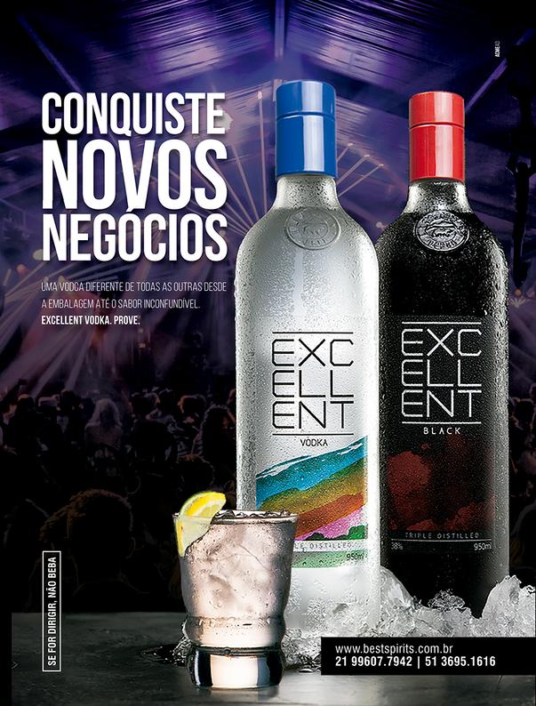 Anúncio Excellent Vodka para feira Super Rio