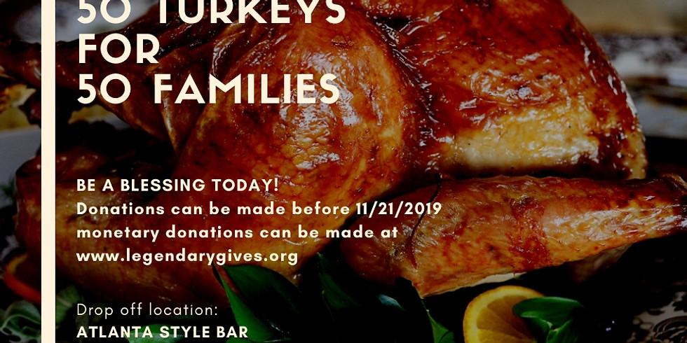 50 Turkeys for 50 Families