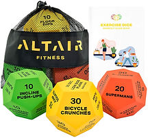 Altair exercise dice, full body workout.